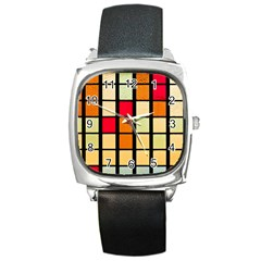 Mozaico Colors Glass Church Color Square Metal Watch