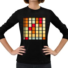 Mozaico Colors Glass Church Color Women s Long Sleeve Dark T Shirts