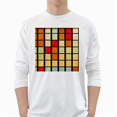 Mozaico Colors Glass Church Color White Long Sleeve T Shirts