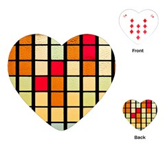 Mozaico Colors Glass Church Color Playing Cards (heart)