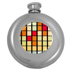 Mozaico Colors Glass Church Color Round Hip Flask (5 Oz)