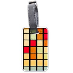 Mozaico Colors Glass Church Color Luggage Tags (two Sides)