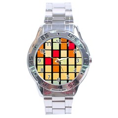 Mozaico Colors Glass Church Color Stainless Steel Analogue Watch