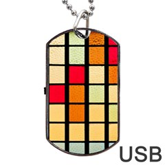 Mozaico Colors Glass Church Color Dog Tag Usb Flash (two Sides)