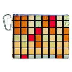 Mozaico Colors Glass Church Color Canvas Cosmetic Bag (xxl)