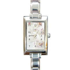 Orchids Flowers White Background Rectangle Italian Charm Watch