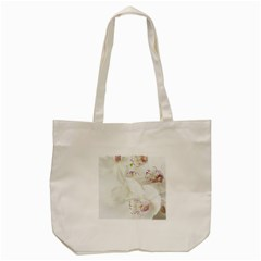 Orchids Flowers White Background Tote Bag (cream)