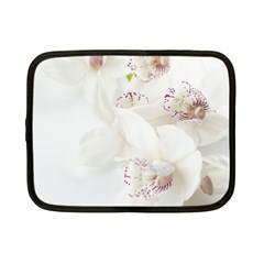 Orchids Flowers White Background Netbook Case (small)