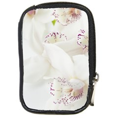 Orchids Flowers White Background Compact Camera Cases
