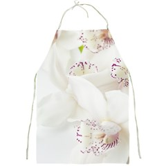 Orchids Flowers White Background Full Print Aprons