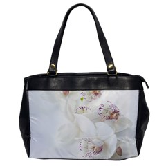 Orchids Flowers White Background Office Handbags