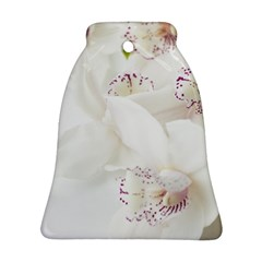 Orchids Flowers White Background Bell Ornament (2 Sides)