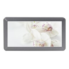 Orchids Flowers White Background Memory Card Reader (mini)
