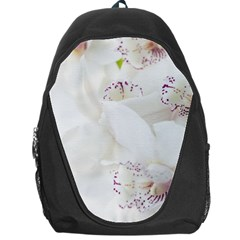 Orchids Flowers White Background Backpack Bag
