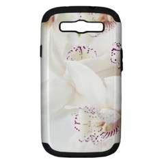 Orchids Flowers White Background Samsung Galaxy S Iii Hardshell Case (pc+silicone)