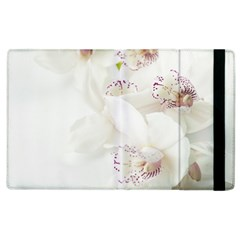 Orchids Flowers White Background Apple Ipad 3/4 Flip Case