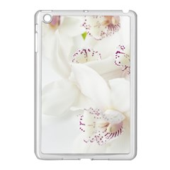 Orchids Flowers White Background Apple Ipad Mini Case (white)