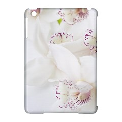 Orchids Flowers White Background Apple Ipad Mini Hardshell Case (compatible With Smart Cover)