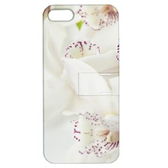 Orchids Flowers White Background Apple Iphone 5 Hardshell Case With Stand