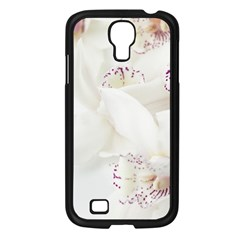 Orchids Flowers White Background Samsung Galaxy S4 I9500/ I9505 Case (black)
