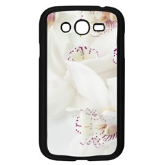 Orchids Flowers White Background Samsung Galaxy Grand Duos I9082 Case (black)