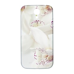 Orchids Flowers White Background Samsung Galaxy S4 I9500/i9505  Hardshell Back Case