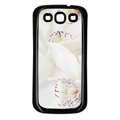Orchids Flowers White Background Samsung Galaxy S3 Back Case (black)