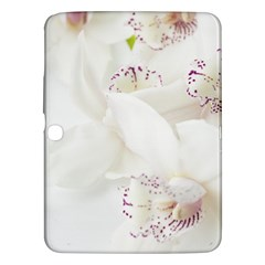 Orchids Flowers White Background Samsung Galaxy Tab 3 (10 1 ) P5200 Hardshell Case