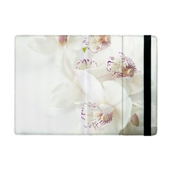 Orchids Flowers White Background Ipad Mini 2 Flip Cases