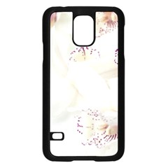 Orchids Flowers White Background Samsung Galaxy S5 Case (black)