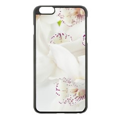 Orchids Flowers White Background Apple Iphone 6 Plus/6s Plus Black Enamel Case
