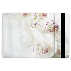 Orchids Flowers White Background Ipad Air 2 Flip