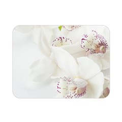 Orchids Flowers White Background Double Sided Flano Blanket (mini)