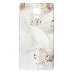 Orchids Flowers White Background Galaxy Note 4 Back Case