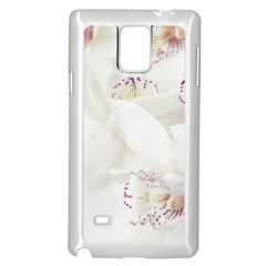 Orchids Flowers White Background Samsung Galaxy Note 4 Case (white)