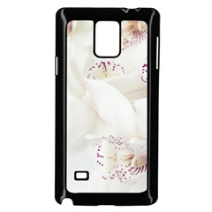 Orchids Flowers White Background Samsung Galaxy Note 4 Case (black)