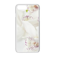 Orchids Flowers White Background Apple Iphone 7 Plus White Seamless Case