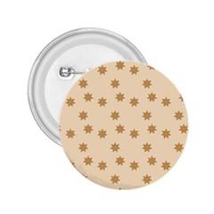 Pattern Gingerbread Star 2 25  Buttons