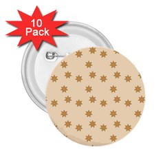 Pattern Gingerbread Star 2 25  Buttons (10 Pack)