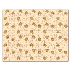 Pattern Gingerbread Star Rectangular Jigsaw Puzzl