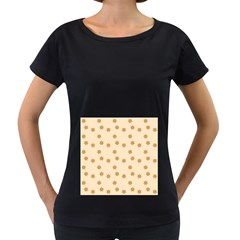 Pattern Gingerbread Star Women s Loose Fit T Shirt (black)
