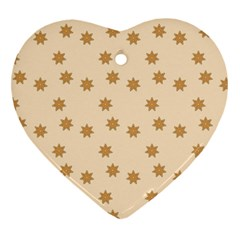 Pattern Gingerbread Star Heart Ornament (2 Sides)