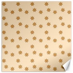Pattern Gingerbread Star Canvas 16  X 16