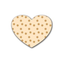Pattern Gingerbread Star Rubber Coaster (heart)