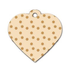 Pattern Gingerbread Star Dog Tag Heart (two Sides)