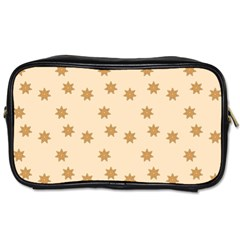 Pattern Gingerbread Star Toiletries Bags 2 Side