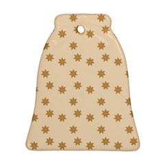 Pattern Gingerbread Star Bell Ornament (2 Sides)
