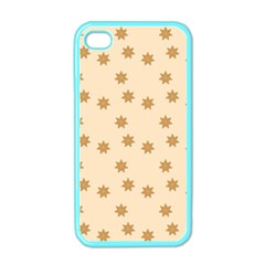 Pattern Gingerbread Star Apple Iphone 4 Case (color)