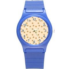 Pattern Gingerbread Star Round Plastic Sport Watch (s)
