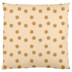 Pattern Gingerbread Star Large Cushion Case (two Sides)